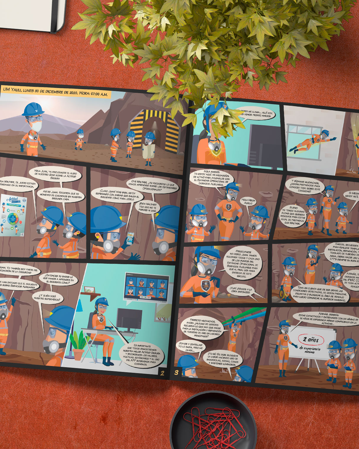 Diseño de Cómics para campaña de endomarketing